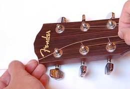 gitár húrcsere első lépése