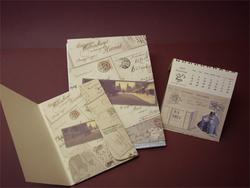 Dosszié  nyomása és naptár nyomása egyforma mintával