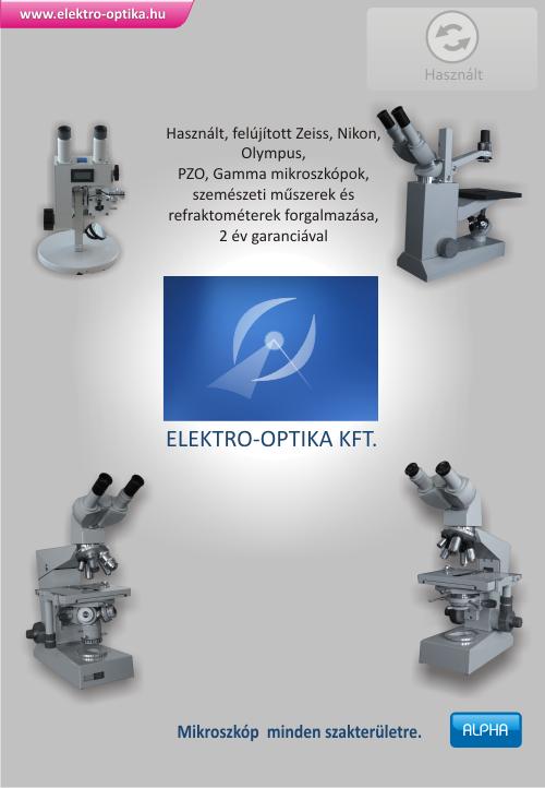 használt mikroszkóp