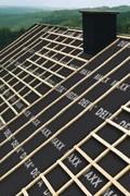 Delta Maxx Plus páraáteresztő tetőfólia a tetőn