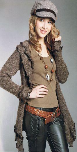 kötött női kabátok