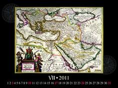 Antique maps naptár belül