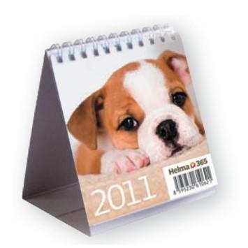 Kutyás gyerek asztali naptár