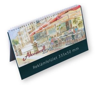Akvarell képes asztali naptár