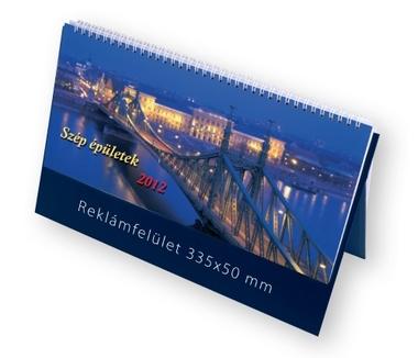 Szép épületek képes álló asztali naptár