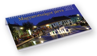 Magyarországot járva képes fekvő asztali naptár
