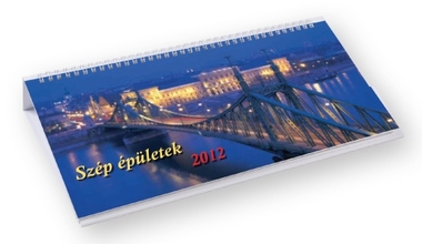 Szép épületek képes fekvő asztali naptár
