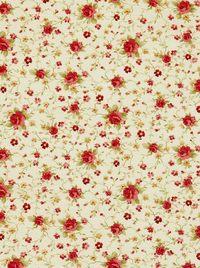 Apró rózsás vászon dekorfüggöny