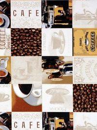 Kávés dekorfüggöny