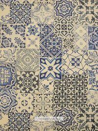 Régi csempék textilen