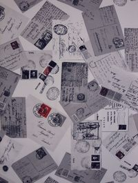 Régi levelezőlap mintás dekorfüggöny
