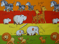 Safari óvoda pamutvászon