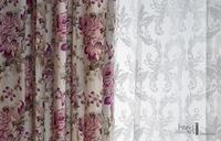 Summer blossom lila InteriArt dekorfüggöny
