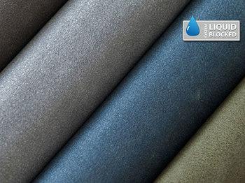 textilbőr kék