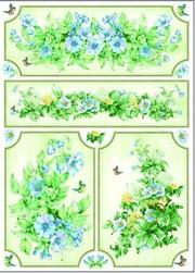 akciós dekupázs papír Esprimo virág