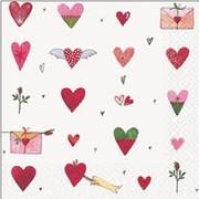 akciós szalvéta szerelem, esküvő sorozat szívgyűjtemény