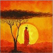szalvéta afrikai sorozat, naplemente