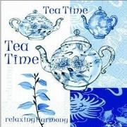 szalvéta kávé és sütis sorozat kék teaidő