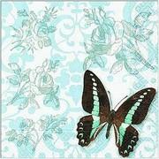 szalvéta virágos szalvéták kék virágos