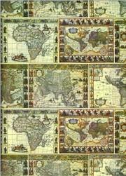 Tassotti dekupázs papír térkép
