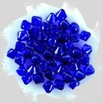 üveggyöngy kúpos, kék