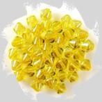 üveggyöngy kúpos, sárga