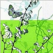 szalvéta virágos szalvéták ágak és pillangó