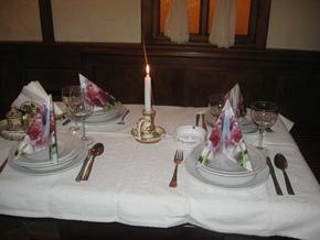 Székely étterem terített asztala