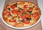 Csirkemájas pizza