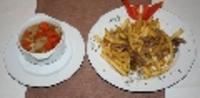 gyermek menü:Húsleves, brassói hasábburgonyával
