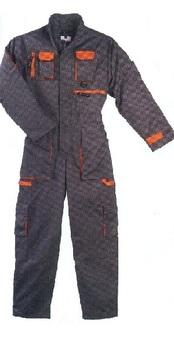 férfi overall szürke-narancs