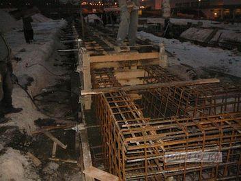 monolit vasbeton alapozás - betonacél szerelés