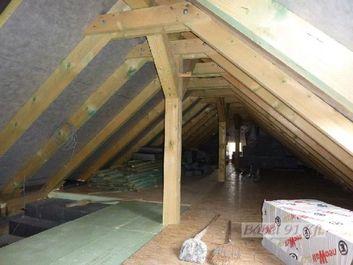 passzívház tető hőszigetelés_padlásfödém