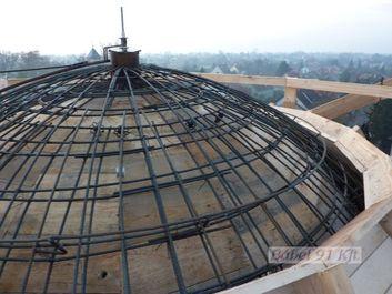 vasbeton műtárgy - kupola szerkezet zsaluzás
