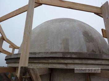Vasbeton műtárgyak - Kopt templom kupola szerkezet