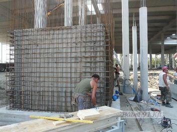 vasbeton szerelés - liftakna fal szerkezet