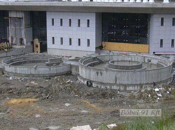 Vasbeton szerkezetek - Egerszalók külső medence