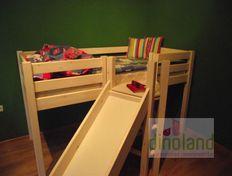 félmagas fa emeletes ágy csúszdával _ Álmos