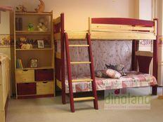 fenyő emeletes ágy Anna