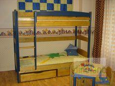 fenyő emeletes ágy Juli