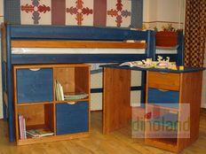 fenyő gyerekbútor Juli íróasztal kommód