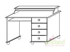 fenyő íróasztal Dream kis íróasztal