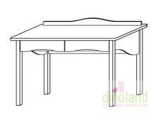 fenyő íróasztal Olivér