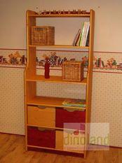 elemes tömörfa gyerekbútor Anna könyvespolc
