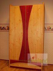 elemes tömörfa gyerekbútor Anna szekrény