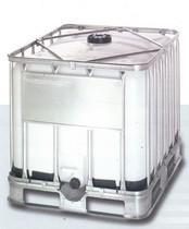 800 literes NW 150 típusú ibc tartály, acél raklappal