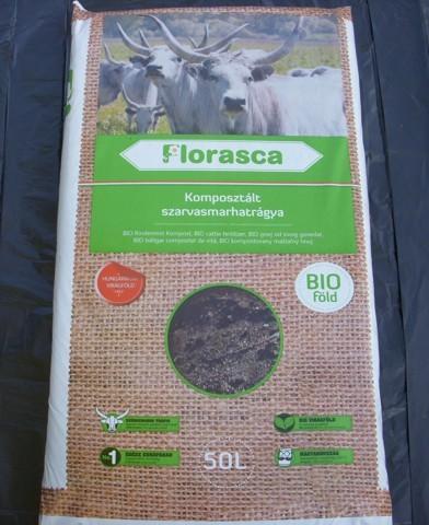 Komposztált bio szarvasmarhatrágya