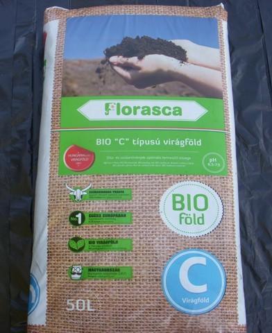 Muskátliföld - 'C' típusú virágföld (Florasca)