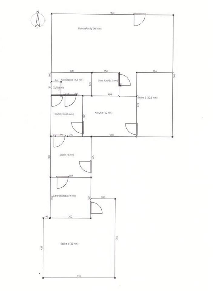Budapest XVII. kerület eladó család ház alaprajz